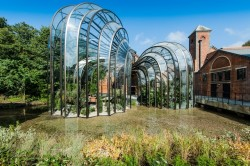 The botanical glasshouses, designed by Thomas Heatherwick and Heatherwick Studios, taking centre stage at Laverstoke Mill
