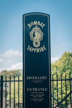 The entrance to the Bombay Sapphire Distillery at Laverstoke Mill