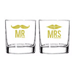 Mr and Mrs Cocktail glasses